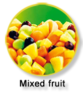 frozen mixed fruit for frozen fruit salads, frozen fruit buffets, ...
